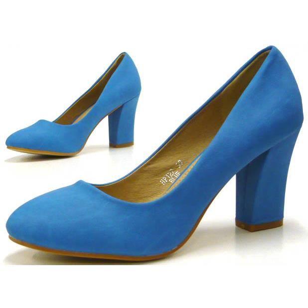 Standart femmes chaussures l'escarpin élégant High Heels bleu 37