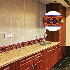 Merveilleux 10M PVC Carrelage étanche Sol Sticker Pour Mur Waistline Cuisine Salle De  Bains Décor Autocollant Mural 3148