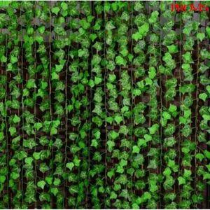 FLEUR ARTIFICIELLE 24 x 2M Plante Artificielle Feuille Lierre Vigne V