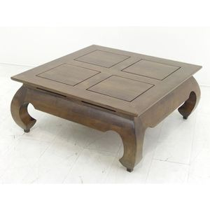 table basse colonial table basse opium 83x83x35cm plateau 80