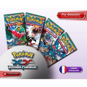 CARTE A COLLECTIONNER 4x Booster Pokemon XY03 Poings Furieux Français.