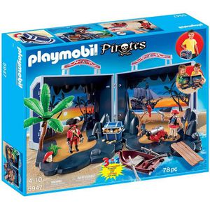 ASSEMBLAGE CONSTRUCTION Playmobil 5947 Pirate Treasure Chest Coffre Transp