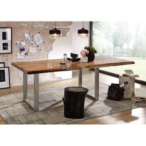 TABLE À MANGER SEULE Table extensible 240-300x110cm – Fer et bois massi