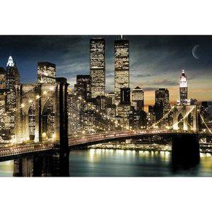 TABLEAU - TOILE Photo vue de manhattan new york de nuit (91x61cm)