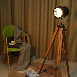 LAMPADAIRE MM-Lampadaire Trépied en Bois pour Salon Décor Lec