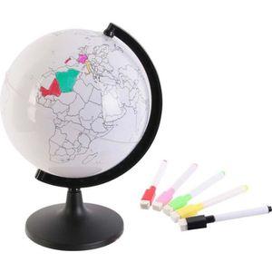GLOBE TERRESTRE Globe terrestre à personnaliser Blanc
