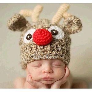 f76850ac1b1a BONNET - CAGOULE Bonnet de Laine Animaux Enfant Bébé Hiver Automne