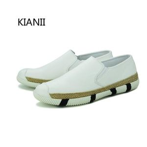 MOCASSIN Slippers Chaussures Homme Mocassins PU-cuir Blanc