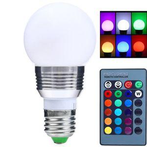 Led Changeant E27 16 Couleurs 3w Avec Ampoule Télécommande Dimmable XOPZkiu