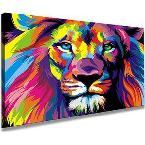 TABLEAU - TOILE 80 x 60 cm impression sur toile Lion 4001-SCT - pe