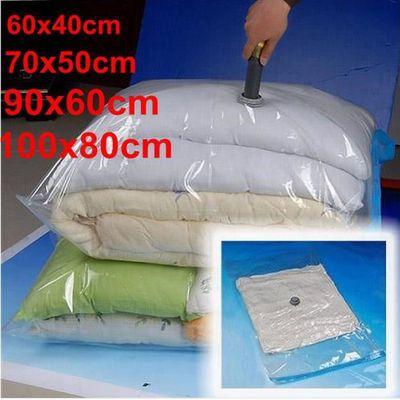 lot de 4 de housse rangement sous vide aspirateur sac compression
