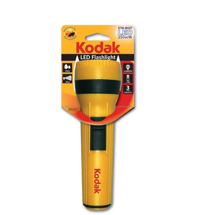 KODAK Lampe torche LED flashlight 250mW - Jaune