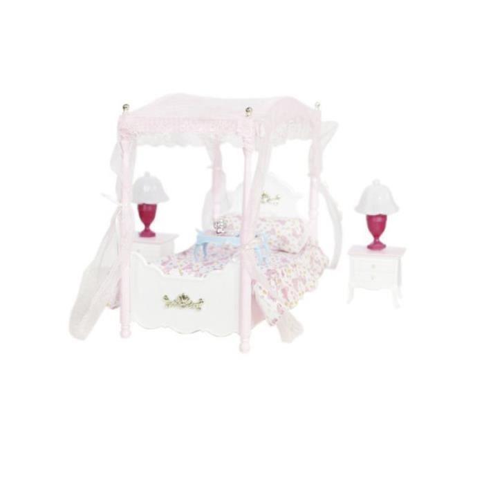 De Table 29 Cm Avec Lit DollhouseArmoire Pour ChevetLampe Éclairage Poupées WEDH9I2Y