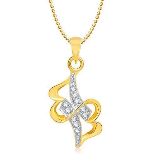 Womens Valentine Gifts Heart Pendant With Chain Gold Plated For And Ps203 KGNQR
