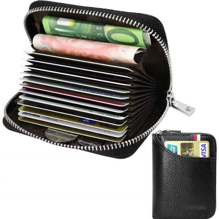Monnaie Rfid De Cartes Carte Case Visite Crédit Cuir Porte Protector Femmes Hommesnoir Cas rCxodQBeW