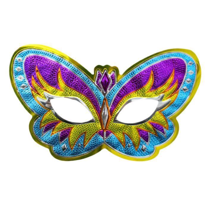 Demi masque masquerade halloween masque f te papillon - Masque papillon carnaval ...