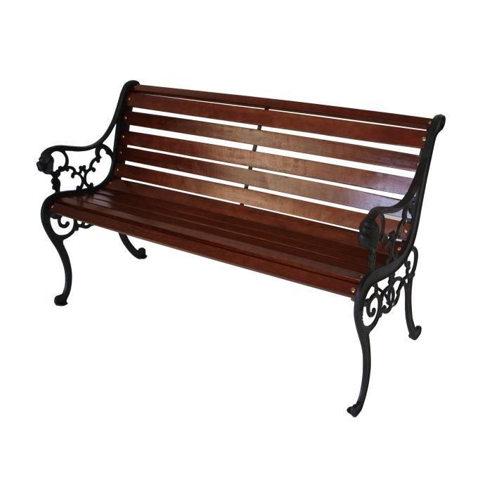 banc de jardin en bois et fonte - achat / vente pas cher - cdiscount