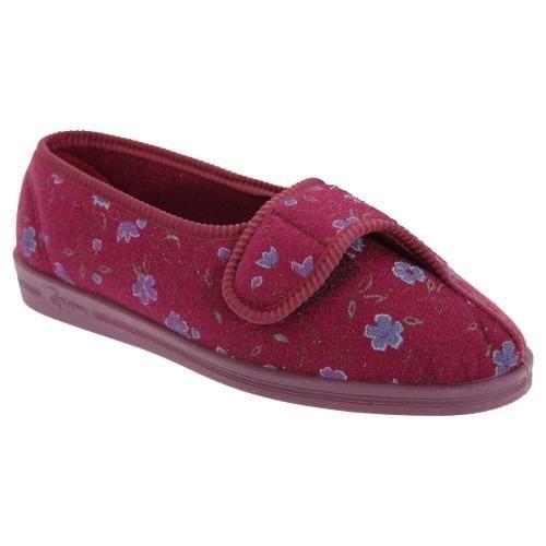 Comfylux Diana - Chaussons à motif floral et fe...