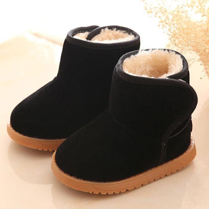 Hiver Bébé Enfant Coton Style Boot Bottes de neige chaud noir wOWrA3