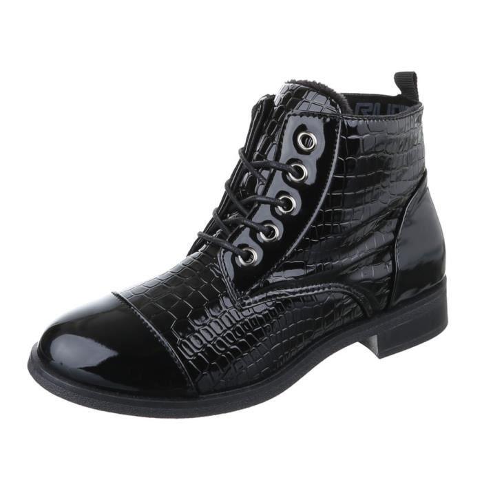 femme bottine chaussure laçage Boots
