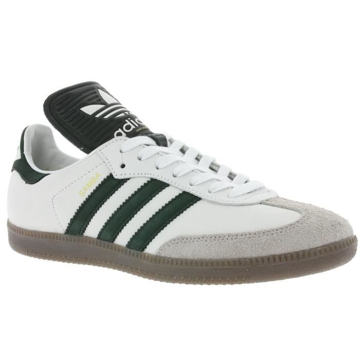 adidas Originals Samba Classic OG Made In Germany Cuir véritable pour hommes Chaussures de sport blanches BB2587