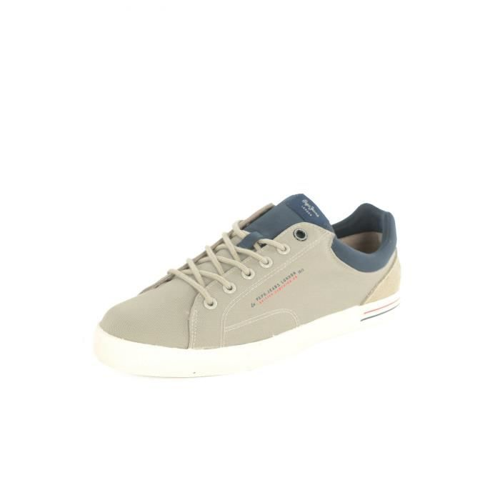 Pms30350 Toile Jeans Gris Sneakers North pepe Homme Iqda0xw85n