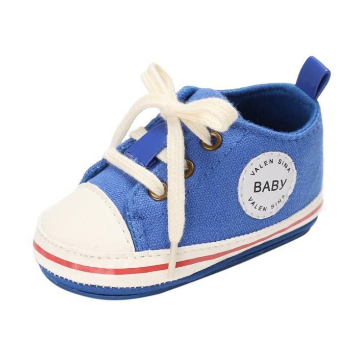 BOTTE Chaussures de bébé garçon fille nouveau-né cuir crèche chaussures à semelle souple@Noir tm77hDfDyj
