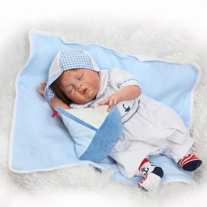 4ca764c69b835 Plein Silicone Vinyle Reborn Baby Doll Réaliste Fille Bébés Poupées 23 Pouce  58 cm Princesse Réaliste Enfants