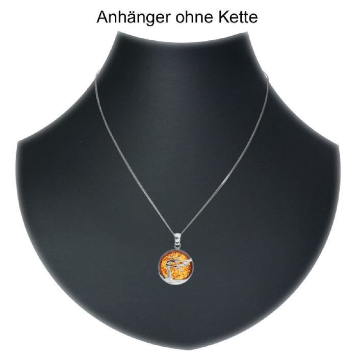In Collections - 10203568100 - Pendentif Femme - Argent 925-1000 3.00 Gr - Ambre IP91F