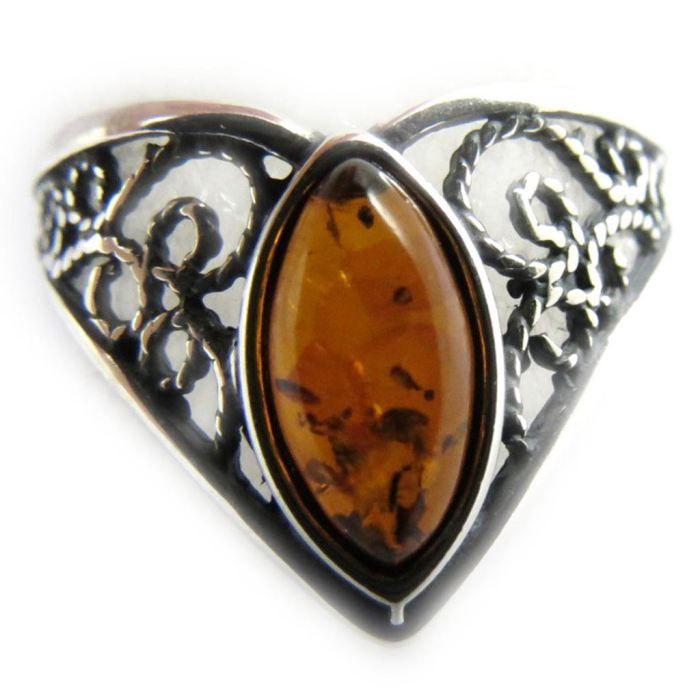 Bague Argent Inspiration ambre