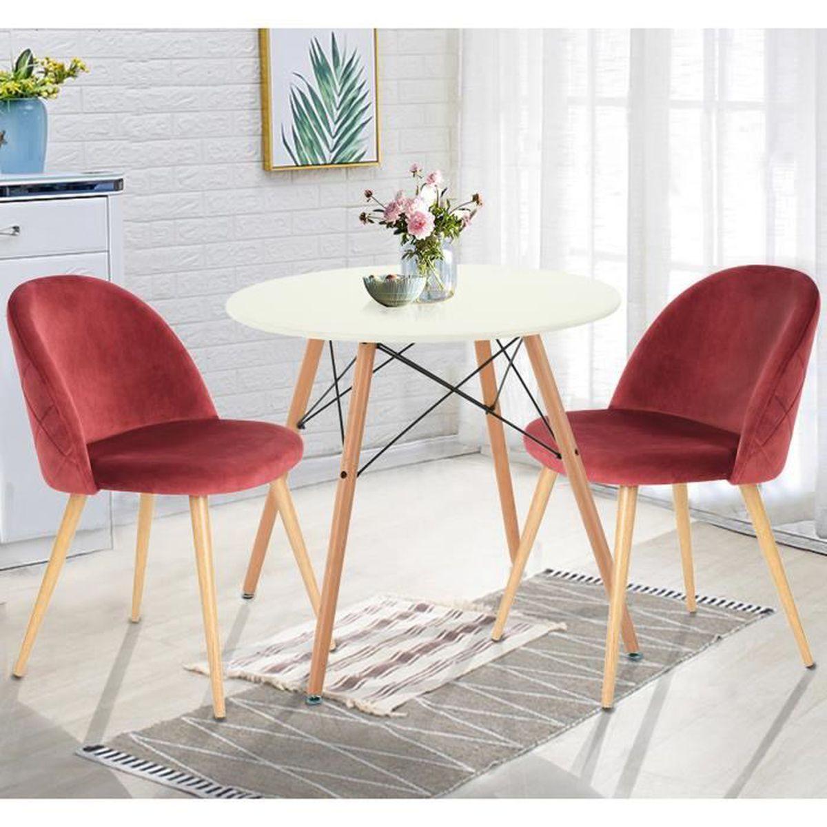TABLE À MANGER SEULE Homy Casa Table à Manger Ronde Scandinave Plateau