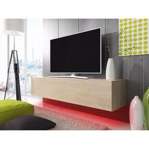 Meuble tv beige achat vente pas cher soldes d s le for Meuble tv 200 cm conforama