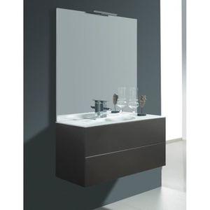 LAVABO - VASQUE Meuble de salle de bain simple à suspendre taupe s