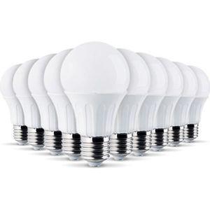 AMPOULE - LED Lot de 10 Ampoules LED E27 7W eq 40W 470Lm (Blanc