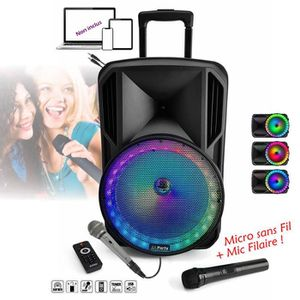 PACK SONO PACK Enceinte Mobile amplifiée 700W avec Batterie