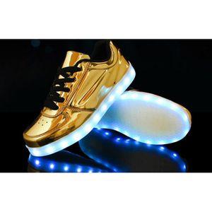 nbsp; couleurs Men lumineuses Loisirs Sneakers Women Glowing Unisexe plats Chaussures LED colorée lumière USB 7 Charge amp; de zwCq4wg