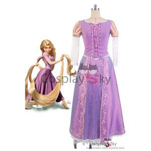 DÉGUISEMENT - PANOPLIE Disney Tangled Princess Rapunzel Dress Cosplay Cos