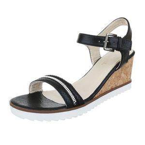 femme sandalette chaussure escarpin Chaussures de soirée Élégant Fête Club  High-Heel semelle compensée Wedges ae9f9763c182