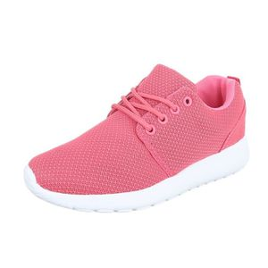 Femme chaussures loisirs chaussures lacer chaussures de sport Sneakers rouge 41 MQUGWfw