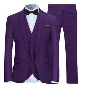 Costume Homme 3 Pièces Complet (Blazer Gilet Pantalon) Deguisement ... 1060ee40a07