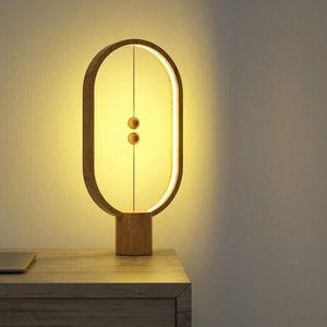 Tablecouleur Lampe Naturel Balance Bois À De Lamp Usb Conjure Magnétique Interrupteur Du Led Heng SUpqVMGzL