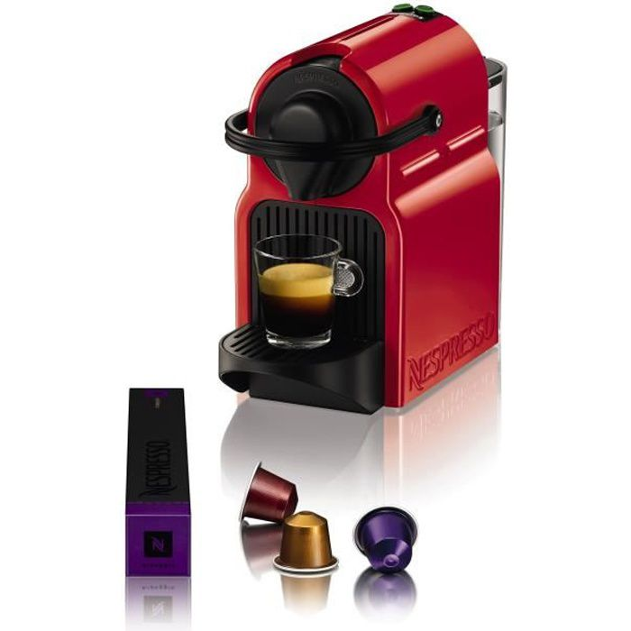 KRUPS NESPRESSO Inissia XN1005 - Rouge rubis