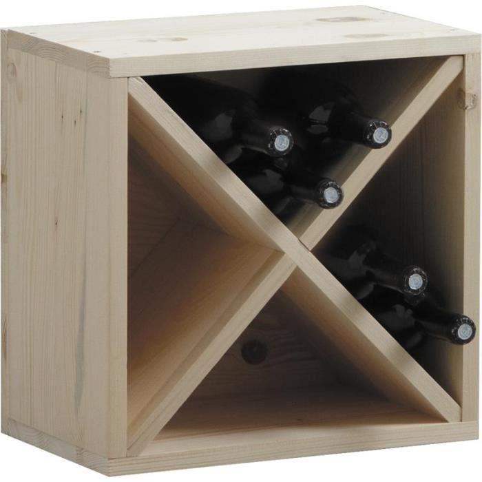 casier de rangement bouteilles vin en bois achat vente porte bouteille casier de rangement. Black Bedroom Furniture Sets. Home Design Ideas