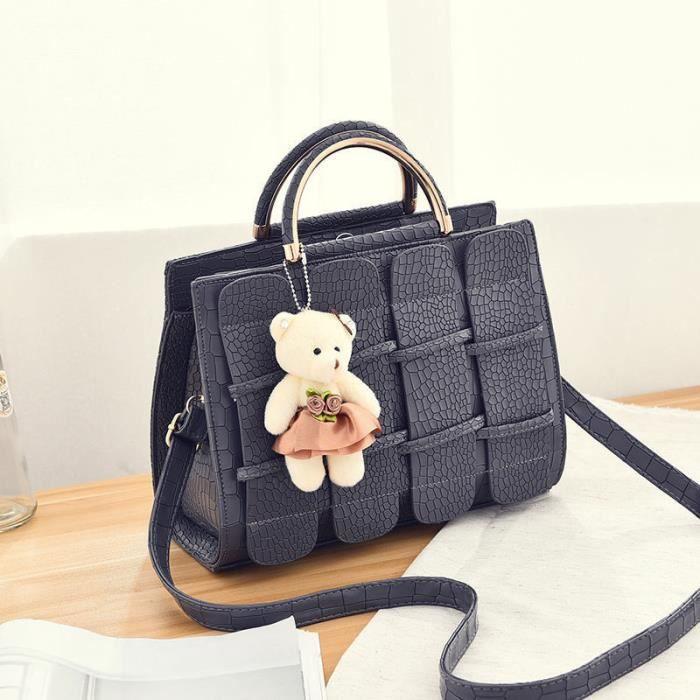sac de luxe sac à main femme de marque luxe cuir 2017 Sacs Sacs À Main Femmes Célèbres Marques noir modérée