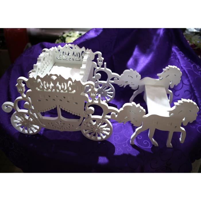 Decoration mariage carrosse achat vente decoration mariage carrosse pas cher cdiscount - Decoration dragee mariage ...