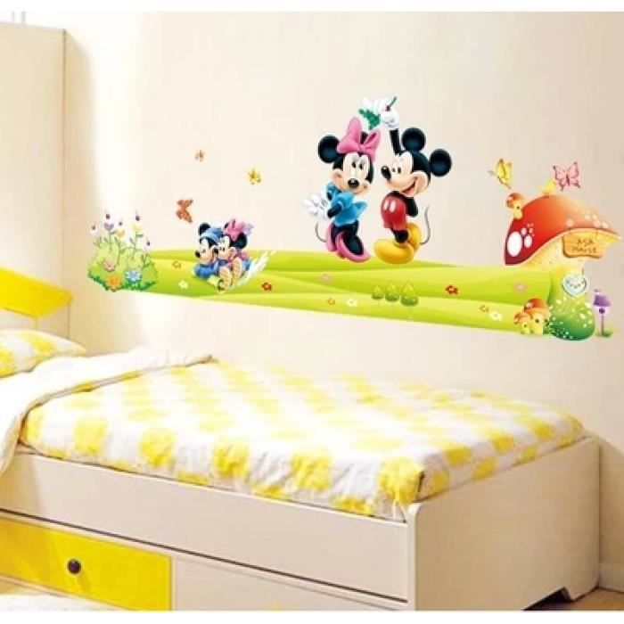 Dessin anim enfants minnie et mickey amovible stickers for Stickers mickey chambre