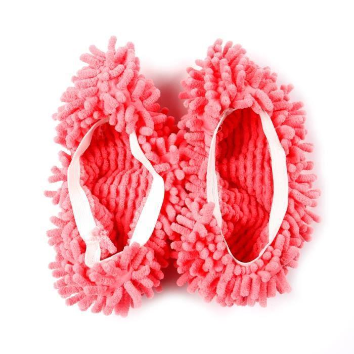1 paire Multifonctions Pantoufles Rose Cuisine Mop Chaussures Couverture propre