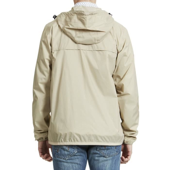 Coupe vent homme beige