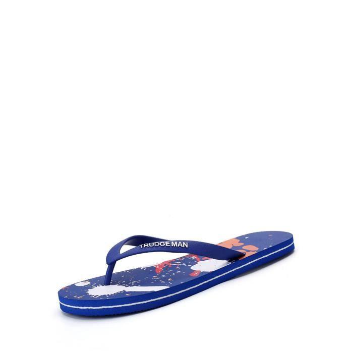 chaussures multisport Flip flops d'hommes Color Block Lumière Casual plates durables 10493132