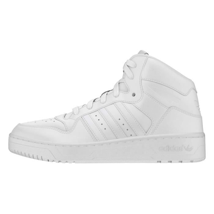 1 Mid 2 Taille Sneaker Attitude Shoes Fashion Adidas 39 White Revive Leather I5P26 PwRdzq7